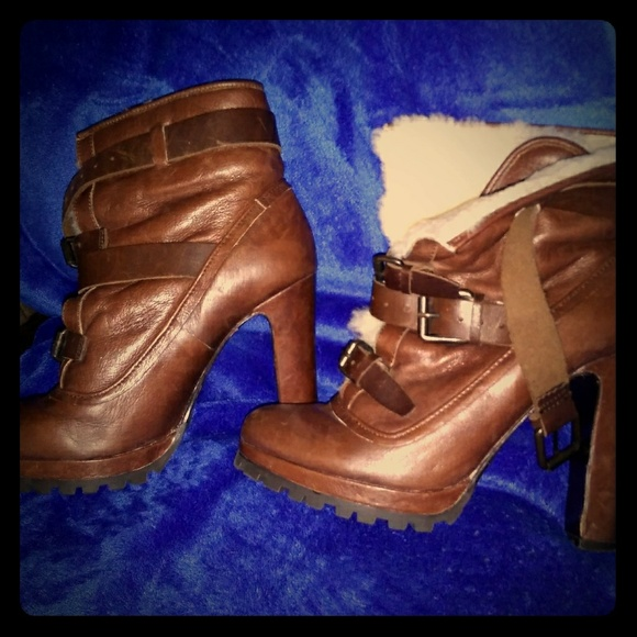 Dolce Vita Shoes - Leather Booties with Heels
